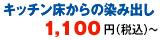 キッチン床からの染み出し1,080円(税込)~